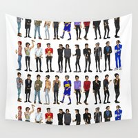zayn Wall Tapestries featuring 22 Zayn Malik by justsomestuff