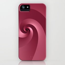 Rose-colored Wave iPhone Case