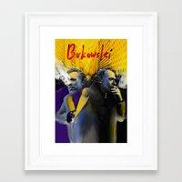 bukowski Framed Art Prints featuring Bukowski by Zmudart
