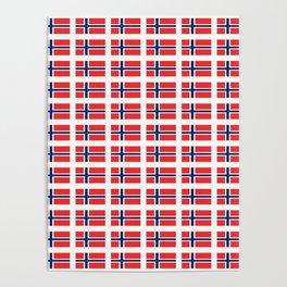 flag of norway,snow,scandinavia,scandinavian, norwegian,oslo Poster