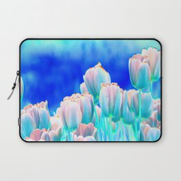 Tulips in Spring Abstract Laptop Sleeve