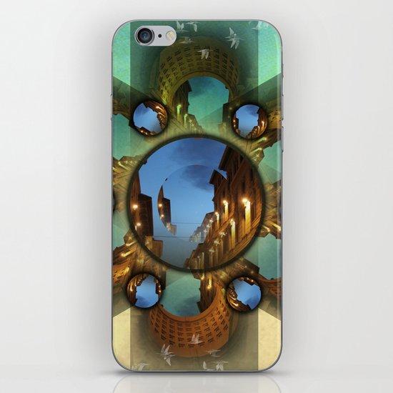 Emerald orbit iPhone & iPod Skin