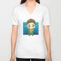 stiles V-neck T-shirts featuring Aqua Stiles by dephigravity