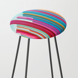 Colorful Rainbow Pipes Counter Stool