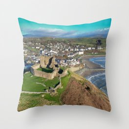 Criccieth Castle Throw Pillow