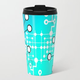Abstract Molecules Travel Mug