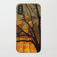 jewish iPhone & iPod Cases featuring Sunset Tree by Brown Eyed Lady