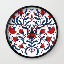 Mexican Floral Wall Clock