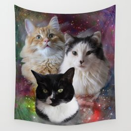 Space Fluffs Wall Tapestry