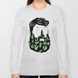 Cactus Beard Dude Long Sleeve T-shirt