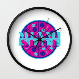 Miami Slice Wall Clock