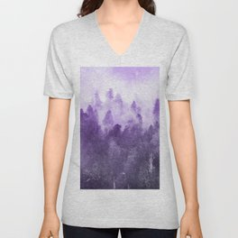 Ultra Violet Adventure Forest Unisex V-Neck