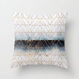 Winter Blue Geo Throw Pillow