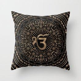 Ek Onkar / Ik Onkar Black and Gold #1 Throw Pillow