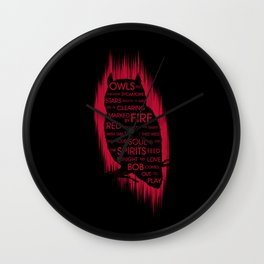 Owls and Fire Wall Clock