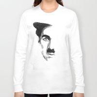 charlie chaplin Long Sleeve T-shirts featuring Chaplin by josie leigh