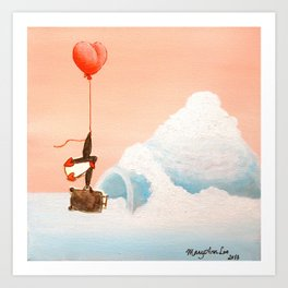 penguin can't fly because of baggage Art Print