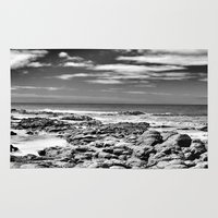 rocky Area & Throw Rugs featuring Rocky OutCrop by Brian Raggatt