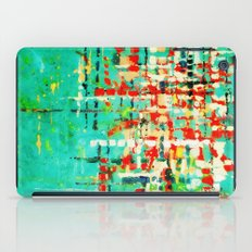 on my street -turquoise abstract iPad Case
