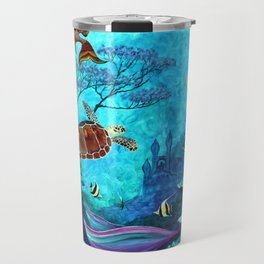 A Fish of a Different Color - Mermaid and seaturtle Travel Mug