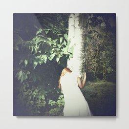 Melancholic Fairy Lost Her Wings In The Woods - n. II Metal Print