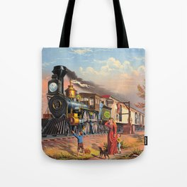 The Fast Mail,  1875 Tote Bag