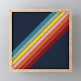 Lumumbu - 70s Vintage Style Retro Summer Stripes Framed Mini Art Print