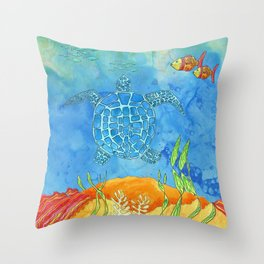 Secret Turtle Throw Pillow