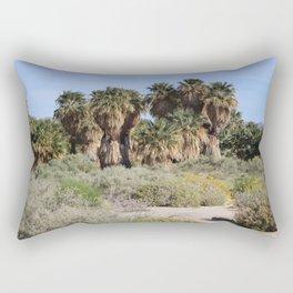 Pathway To a Desert Oasis Coachella Valley Wildlife Preserve Rectangular Pillow