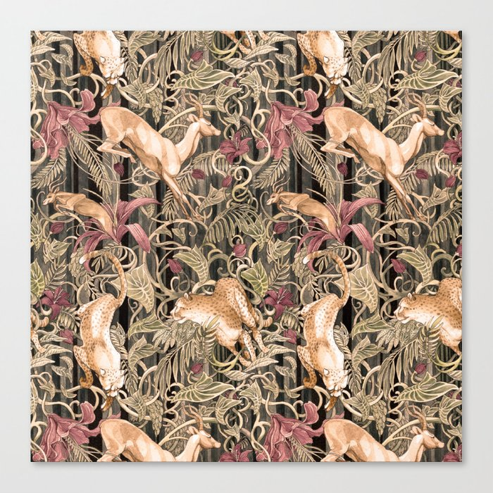 Wild life pattern Canvas Print