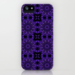 Purple Blue Floral Design iPhone Case