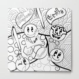 Journaling Emojis Metal Print