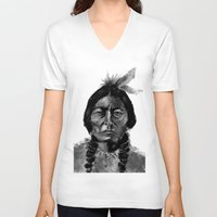native V-neck T-shirts featuring Native by Paul Claisse