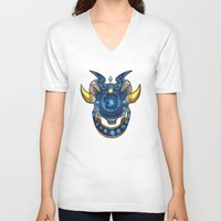 warcraft V-neck T-shirts featuring Blue Dragonflight Crest by Falling Stardusk