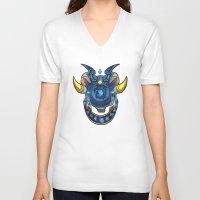warcraft V-neck T-shirts featuring Blue Dragonflight Crest by Fallingstardusk