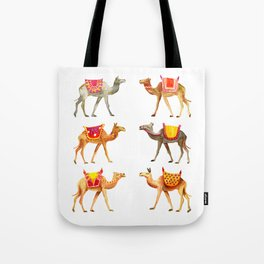 Cute watercolor camels Tote Bag