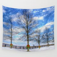 kentucky Wall Tapestries featuring A Kentucky Christmas by ThePhotoGuyDarren