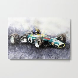 Jim Clark, Lotus 49, 1968 Metal Print