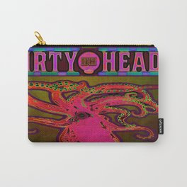 Dirty Heads Psychedelic Octopus #3 Colorful Trippy Vibrant Character Design Carry-All Pouch