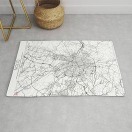 Dijon Map White Rug