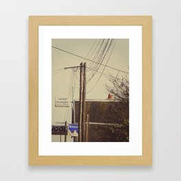 I spent my days in the world 2 Framed Art Print