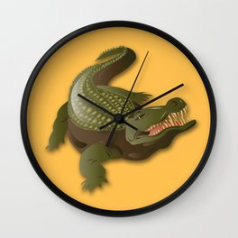 Crocodile - 'A Fantastic Journey' Wall Clock