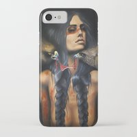 running iPhone & iPod Cases featuring Running Eagle by Chelsea Brown