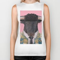spanish Biker Tanks featuring Spanish Bull by Rachel Waterman