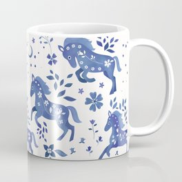 Delft Blue Horses Coffee Mug