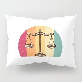 Scales Of Justice Lawyer Retro Gift Idea Pillow Sham