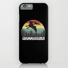 GRAMMASAURUS GRAMMA SAURUS GRAMMA DINOSAUR iPhone Case