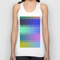 fabric Tank Tops featuring Blocky Fabric by writingoverashes