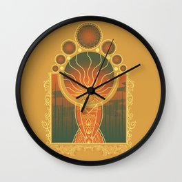 Princess of Flame Wall Clock