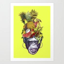 Carmem monkey Art Print